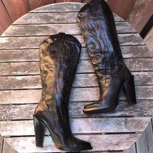 Jessica Simpson Abilene stud heel cowgirl boots